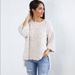 """Get It Oversized Sweater - Lavender"""